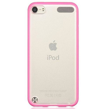 iPod Touch 5/6 Bumper Case Pink/Clear Back