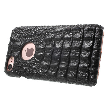 iPhone 7 Crocodile Case Genuine Leather Black