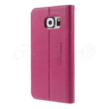Samsung Galaxy S6 EDGE Real Leather Slim Case Pink