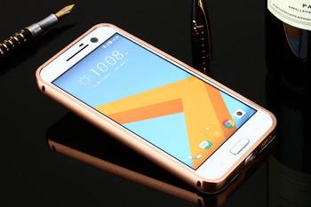 HTC 10 Aluminum Bumper Case+Back Cover Rose Gold