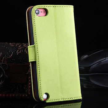 iPod Touch 6/5 Genuine Leather Case Green