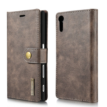 Sony Xperia XZ Luxury Leather Case+Back Cover Coffee