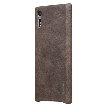 Sony Xperia XZ Vintage Leather Protective Cover Brown