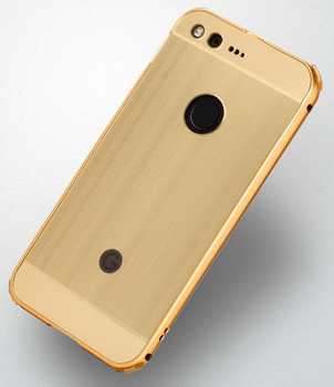 Google Pixel Aluminum Bumper Case+Back Cover Gold