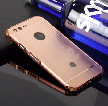 Google Pixel Aluminum Bumper Case+Back Cover Rose Gold