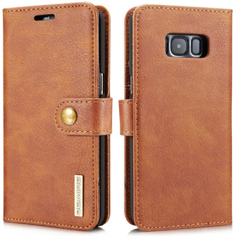 Samsung Galaxy S8 Leather Wallet with Portable Case Brown