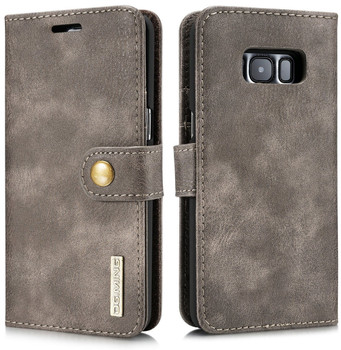 Samsung Galaxy S8 Leather Wallet with Portable Case Coffee