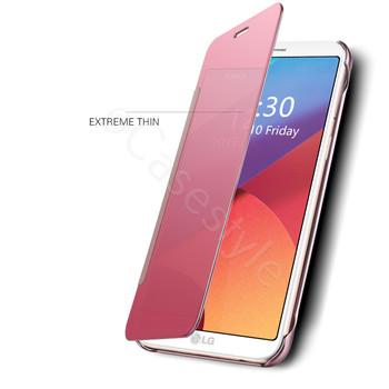 LG G6 Smart Case Auto Wake Sleep Cover Pink