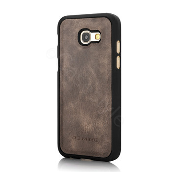 Samsung Galaxy A5 2017 Leather Case Removable Cover Wood Brown