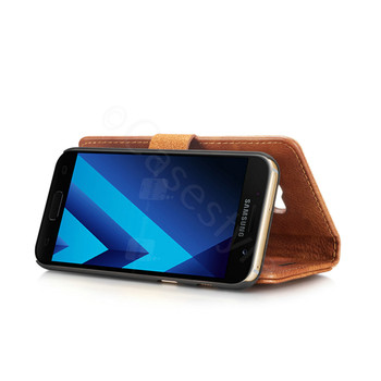 Samsung Galaxy A3 2017 Leather Case with Separable Cover Brown