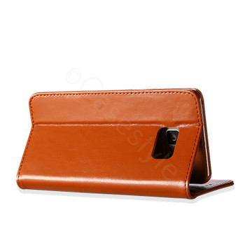 Samsung Galaxy S8 Premium Leather Case Light Brown