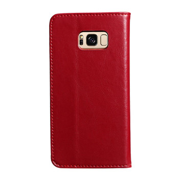 Samsung Galaxy S8+[Plus] Premium Leather Wallet Case Red
