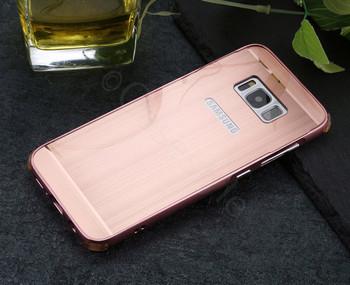 Samsung Galaxy S8 Aluminum Bumper Case Rose Gold