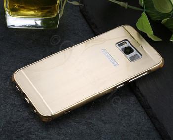 Samsung Galaxy S8+[Plus] Aluminum Metal Bumper Case Gold