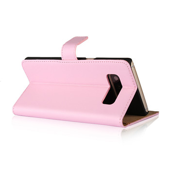 Samsung Galaxy Note 8 Leather Wallet Case Pink