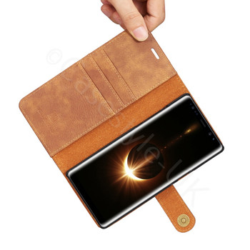 Samsung Galaxy Note 8 Leather 2-in-1 Combo Case+Wallet Brown