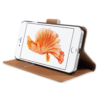 """iPhone 8+""""Plus"""" Leather Wallet Case White"""