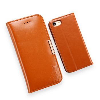 iPhone 8 Premium Leather Case Cover Tan