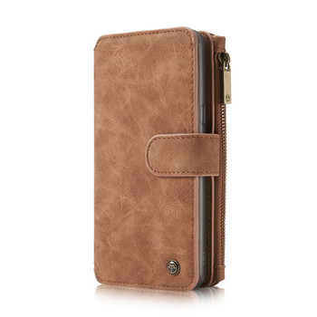 Samsung Galaxy Note 8 Multi-Card Leather Case Cover Brown