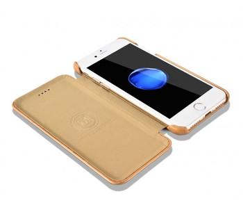 iCarer iPhone 6S 6 Real Vintage Leather Case Beige