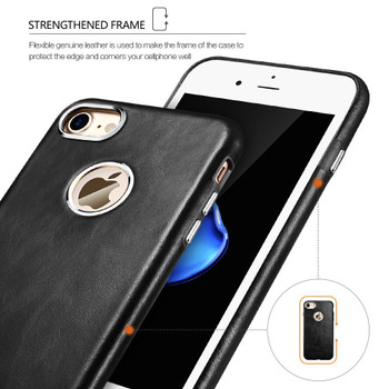 iCarer iPhone 8 Vintage Leather Cover Case