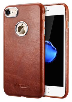 iCarer iPhone 8 Vintage Leather Cover Case Brown