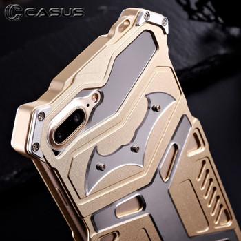 iPhone 8 Aluminum Steel Armor Bumper Case Gold