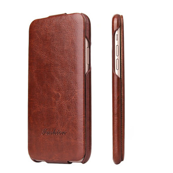 iPhone X Flip Case Cover Brown