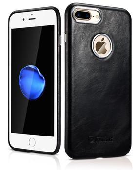 "iCarer iPhone 8+""Plus"" Luxury Leather Case Black"