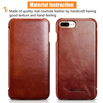 "iCarer iPhone 8+""Plus"" Real Vintage Leather Case"