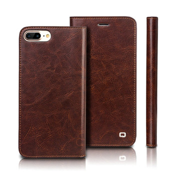"""iPhone 8+""""Plus"""" Handcrafted Luxury Leather Case Brown"""