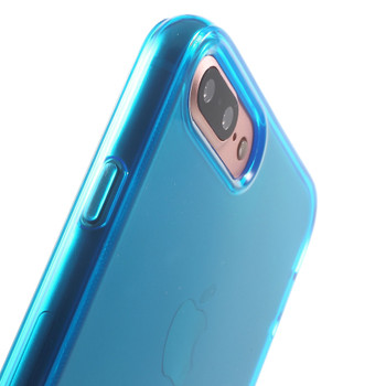 """iPhone 8+""""Plus"""" Rubbery Case Cover Blue"""
