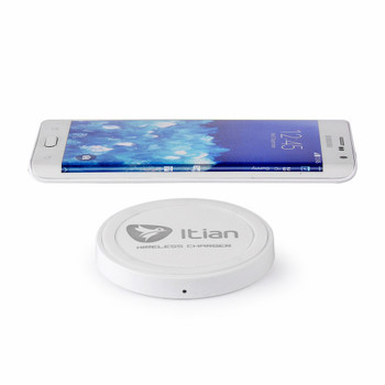 Wireless Charger Disc for Samsung Galaxy S6/S6 EDGE/Plus-White