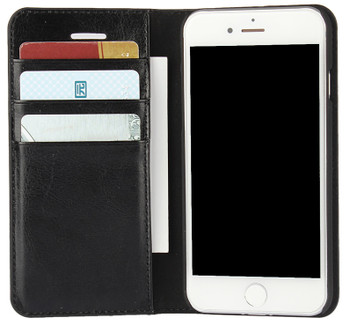 iPhone 8 Real Leather Wallet Cover Case
