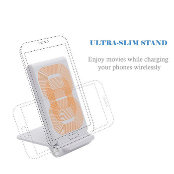 Wireless Charger Qi Stand Foldable 3 Coils