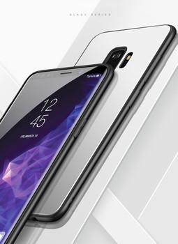 Samsung Galaxy S9 Bumper Case+Tempered Glass Back White