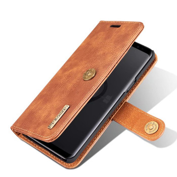"Samsung Galaxy S9+""Plus"" Leather Wallet Case & Back Cover Brown"