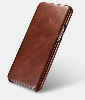 "Samsung Galaxy S8+""Plus"" Cowhide Leather Flip Case Brown"
