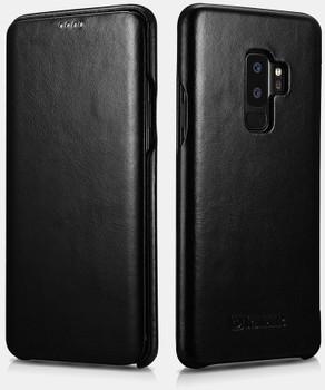 "Samsung Galaxy S9+""Plus"" Genuine Leather Vintage Flip Case"