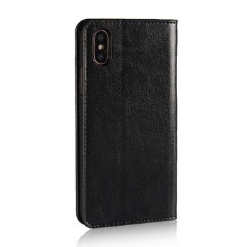 iPhone XS Real Leather Case Book Style