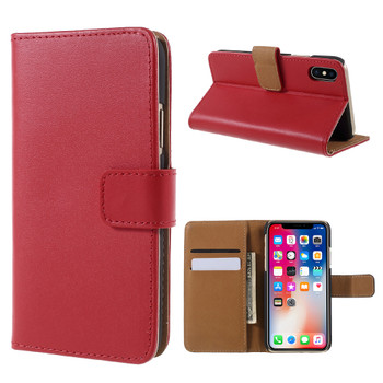 iPhone Xs Wallet Case Red