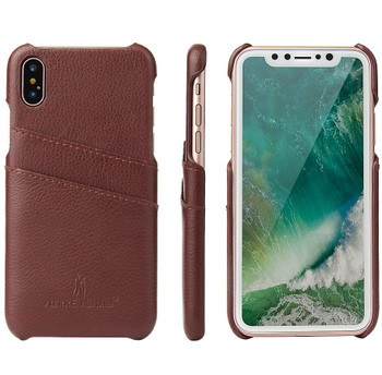 iPhone Xs Leather Back Case