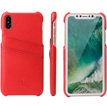 iPhone XS Red Leather Case