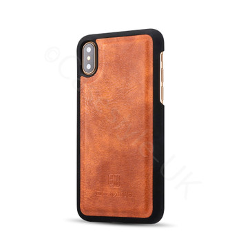 iPhone XS Leather Folio Case+Magnetic Cover Tan