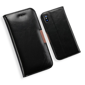 iPhone XS Premium Leather Case Black