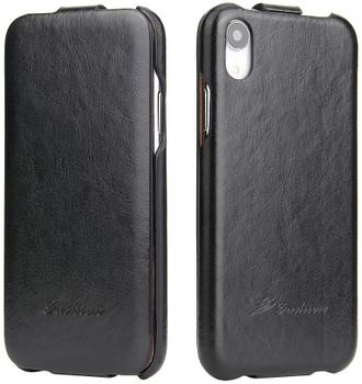 iPhone XR Vertical Flip Case Up-Down Black