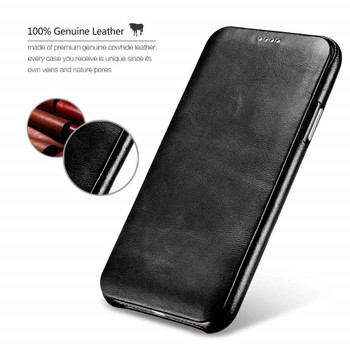 iPhone XS Real Leather Curved Edge Vintge Case