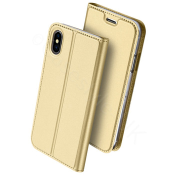 iPhone XS MAX Flip Case Gold