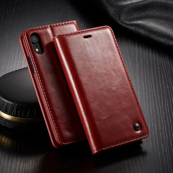 iPhone XR Wallet Stand Case Red