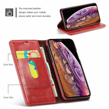iPhone XS MAX Folio Wallet Case Red